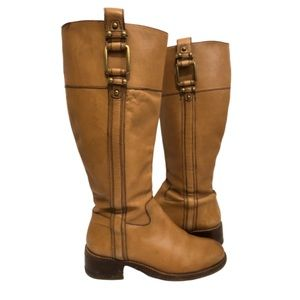 Banana Republic Tan Leather Riding Boots Sz 7.5